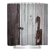 Wooden Latch Shower Curtain