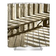 Wooden Lines - Semi Abstract Shower Curtain