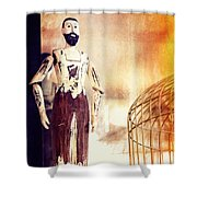Wooden Man Shower Curtain