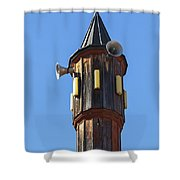 Wooden Minaret Shower Curtain