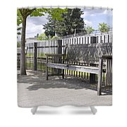 Wooden Park Benches Shower Curtain