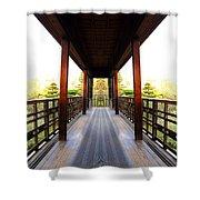 Wooden Path Shower Curtain