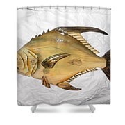 Wooden Permit Number Four Shower Curtain