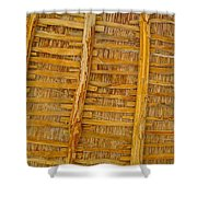 Wooden Roof Shower Curtain