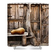 Wooden Shack Shower Curtain