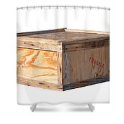 Wooden Shipping Box Shower Curtain