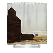 Wooden Silo Shower Curtain by Jeff Swan