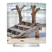 Wooden Steps Shower Curtain