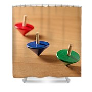 Wooden Tops Shower Curtain