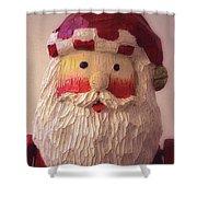 Wooden Toy Santa Shower Curtain