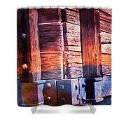 Wooden Wagon Side In Colors Shower Curtain