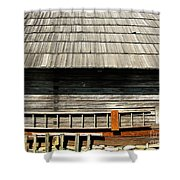Wooden Window And Roof  Shower Curtain