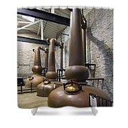 Woodford Reserve Copper Spirit Stills - D008775a Shower Curtain