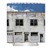 Woodgate Building Shower Curtain