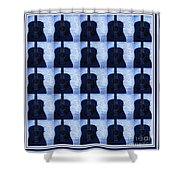 Woodgrain Guitar Blue Shower Curtain