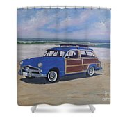 Woodie On Beach Shower Curtain