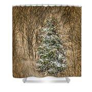 Woodland Christmas Shower Curtain