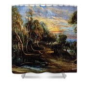 Woodland Scenery Shower Curtain