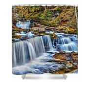 Wateralls In The Woods Shower Curtain