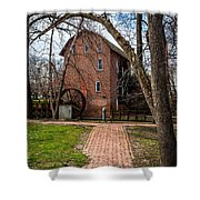 Wood's Grist Mill In Hobart Indiana Shower Curtain