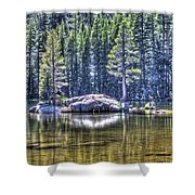 Woods Lake 1 Shower Curtain