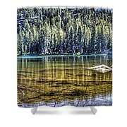 Woods Lake 3 Shower Curtain