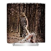 Woods Of Terror Shower Curtain