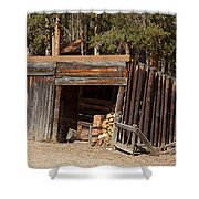 Woodshed On The Holzwarth Historic Site Shower Curtain