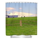 Woodstock Hill Of Peace Shower Curtain