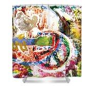 Woodstock Original Painting Print  Shower Curtain