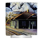 Woodstock Station Shower Curtain