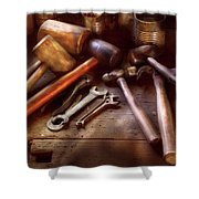 Woodworker - A Collection Of Hammers  Shower Curtain