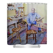 Woodworker Chair Maker Shower Curtain