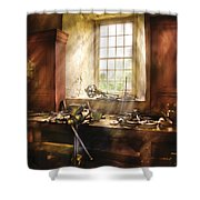 Woodworker - Many Old Tools Shower Curtain by Mike Savad