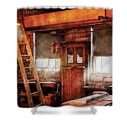 Woodworker - Old Workshop Shower Curtain