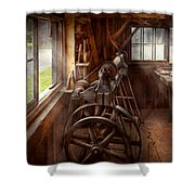 Woodworker - The Art Of Lathing Shower Curtain