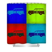 Woody Wagon Pop Art 1 Shower Curtain