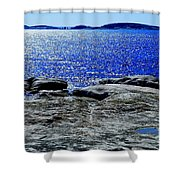Woody's Island Shower Curtain