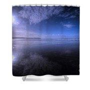 Woolacombe Beach In Blue  Shower Curtain