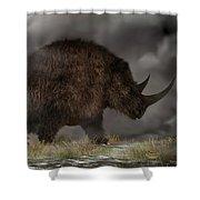 Woolly Rhinoceros Shower Curtain