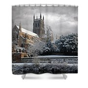 Worcester Cathedral Cloudy Shower Curtain