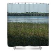 Worden Pond Afternoon Shower Curtain