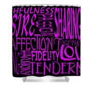 Words Of Love 2 Shower Curtain