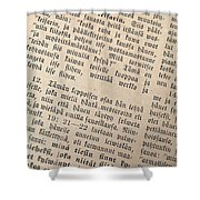 Words Of The Bible Shower Curtain