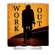 Work Out Vertical Work One Shower Curtain