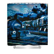 Working All Hours Shower Curtain