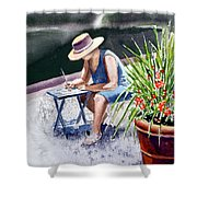 Working Artist Shower Curtain