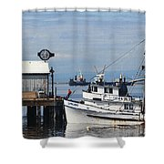 Working Boats Shower Curtain