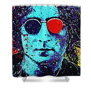 Working Class Hero II Shower Curtain by Chris Mackie