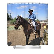 Working Cowboy Shower Curtain